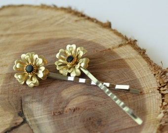 Floral Vintage Jewelry Bobby Pin Set of 2
