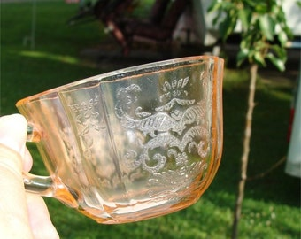 BIG Sale //  1930's Depression Glass PINK Cup American Sweetheart