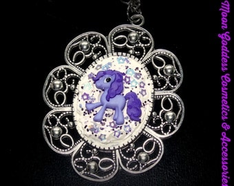 Purple My Little Pony Decoden Cameo Necklace