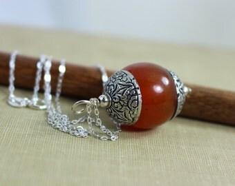 Jewelry, Necklace, Tibetan Amber Necklace, Ethnic Tibetan Necklace, Ethnic Necklace, Ethnic Jewelry, Nepalese Jewelry