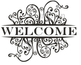 "Beautiful ""WELCOME"" Sign SVG Cutting File"