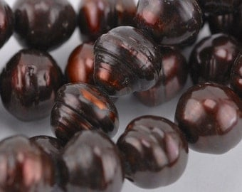 13mm Chocolate Potato Pearl (P3)