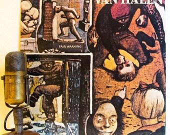 """ON SALE Van Halen Vintage Vinyl LP 1980s Classic Rock Hard Rock Air Guitar Eddie Van Halen David Lee Roth """"Fair Warning""""(1981 Wb)Vintage  Vi"""