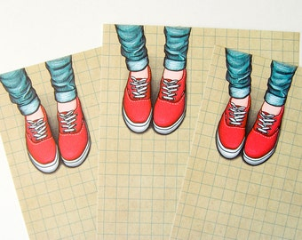 Her Sneakers - A5 Stationery - 12, 24 or 48 sheets