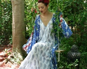 100% Cotton Nightgown Indian Summer Lingerie Honeymoon Sleepwear Bridal Cruise Beach Limited Edition Collection Paisley Print Gown