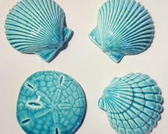 Mosaic tiles-Sandollar-Sea Shells- tiles - mosaic tile - ceramic, handmade