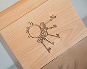 Recipe Box - Skeleton Keys
