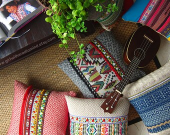 Pillows - Set of 3 - Colorful, Mexican, Boho, Gypsy, Rustic - Your Choice of Design - 16x16 inches