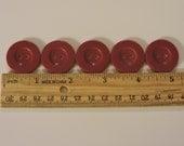 Crimson Red Buttons 2 Hole Setof 6
