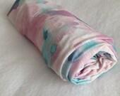 Watercolor Baby Swaddling Blanket