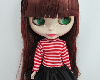 Outfit Clothing Fashion costume Handmade for Blythe long sleeve dress 400-A-38