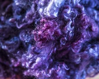 Mohair Curls in Purple Blue Shades