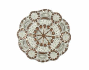Flower Copper Patina Metal Rivet Sets - 0.47 inch - 10 pieces