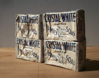 Vintage Soap Bars in Original Paper Wrap / Colgate Palmolive Peet Soap / Crystal White / Advertising Collectible / Laundry Room / WWII Era