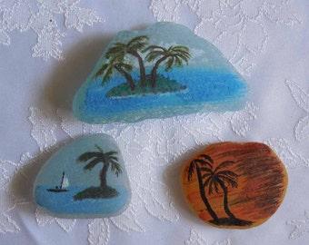 Painted Beach Glass Beach Scenes