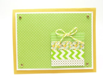 Birthday Card for Her Washi Tape Birthday Card Colorful Birthday Card Handmade Greeting Card Birthday Present Card Fancy Card for Women