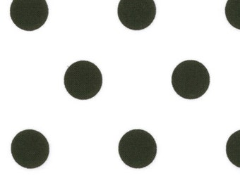 Black Polka Dots on White Dottie #48-17 Moda Quilt Fabric by the 1/2 yd
