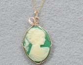 Vintage Cameo Goldfilled Pendant