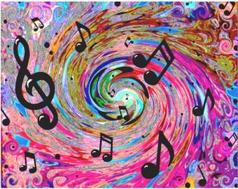 Musical Print Poster