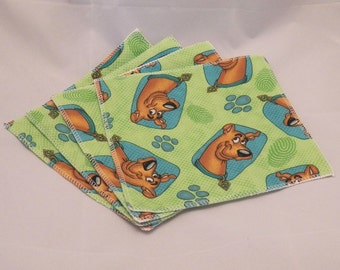 Cloth Wipes- Scooby Doo- Set of 4- 15014