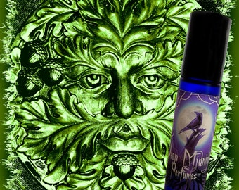 Jack in the Green Perfume Oil:  Oakmoss, Vetiver, Patchouli - Artisan Perfume Oil