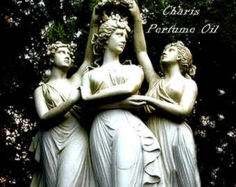 CHARIS Perfume Oil - Arabian Sandalwood, Vanilla Bean, Musk - Goddess Perfume - Three Graces