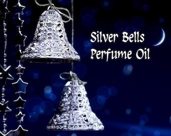 SILVER BELLS Perfume Oil: Rum, Cinnamon, Nutmeg, Vanilla Bean, Cream, Sugarplum, Mint - Christmas Perfume - Holiday Fragrance