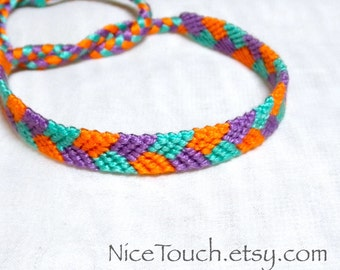 SUMMER SALE!!! Free Shipping or Save 20% ~ Sandcastle: Summer Series knotted friendship bracelet ~ Made to Order