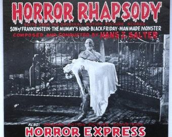 "Rare ""Horror Rhapsody/Horror Express"" Vinyl Soundtrack (1980) - Excellent Condition"