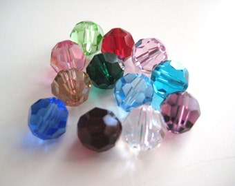 Genuine Swarovski 5000 Series Round 8mm Crystals 10 pieces-Choice of Colors