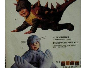Toddlers' Dinosaur and Seal Costume Pattern, Crawladon, Jumpsuit, Hood, Tom Arma - McCalls No. 7767 P255 UNCUT Size 2 3 4