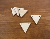 """Wood Triangle Earring Blanks 2 Holes Unfinished Laser Cut Equilateral Earring Pendant Jewelry Shapes 1 3/16"""" (30mm) x 1/8"""" - 25 Pieces"""