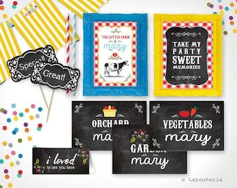 Farm Party Signs | Farm Birthday Decorations | Country Birthday | Farm Party