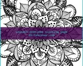 Mandala Coloring Page 0415 - Instant Download