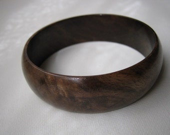 Walnut Burl Bangle Bracelet