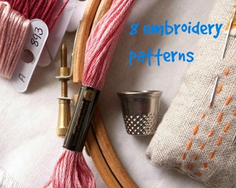 8 embroidery patterns of your choice