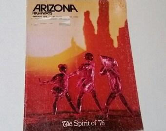 1976 Arizona Highways magazine,  Spirit of '76, Bi-Millenium of the Southwest