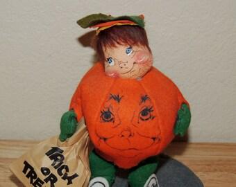 SALE Annalee HALLOWEEN Pumpkin Boy