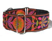Black, Orange, and Purple Pinwheel Martingale Collar - 2 Inch