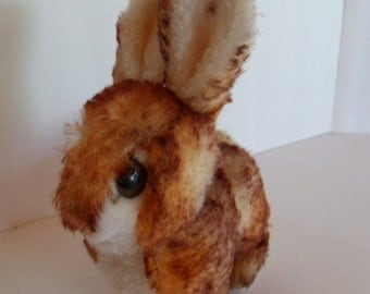 Steiff rabbit, EAN 1318,00, mohair, w.button, made in Germany 1256