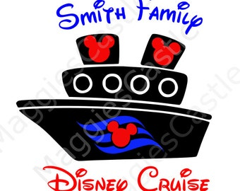 VINYL DecaL - DIY Iron On - Disney Cruise Ship - Personalized