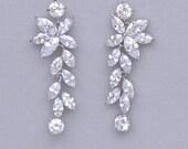 Chandelier Earrings, Crystal Earrings, Crystal Bridal Earrings, Bridal Jewelry, Crystal Wedding Earrings, MAXIME