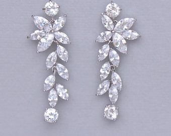 Wedding Earrings Chandelier: Bridal Earrings, Chandelier Earrings, Crystal Earrings, Crystal Bridal  Earrings, Bridal Jewelry, Crystal Wedding Earrings, MAXIME,Lighting