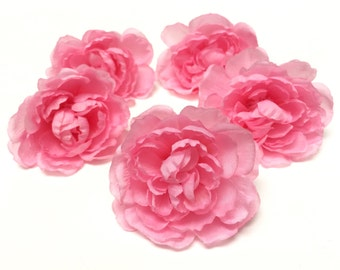 FIVE Cotton Candy PINK Ranunculus Flowers- Artificial Flowers