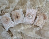 Lace covered matchboxes