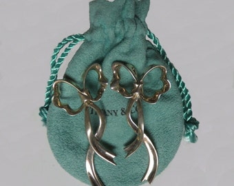 Tiffany & Co. 80's Bow and Ribbon Earrings