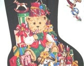 Christmas Bears - pair stocking fabric panel