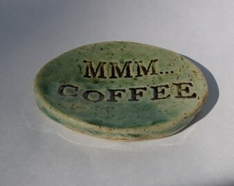 Mmm...Coffee Spoon Rest in Green or Blue