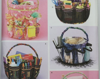 Simplicity 4232 5 Gallon & 5 Quart Bucket cover Organizer Georgia Manning Lewis Arts Toys Crafts Shower Gift  Craft  UNCUT Sewing Pattern
