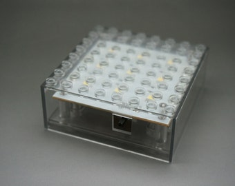 Lightup brick Lamp 8x8 Base - use 3x AAA battery